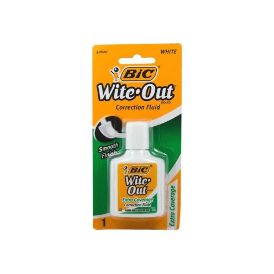 Bic Wite Out Extra Coverage Correction Fluid 0.70 oz