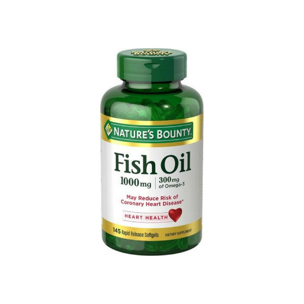 Nature's Bounty Fish Oil Omega-3 1000 mg Softgels 145 ea