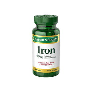 Nature's Bounty Iron 65 mg Tablets 100 Tablets
