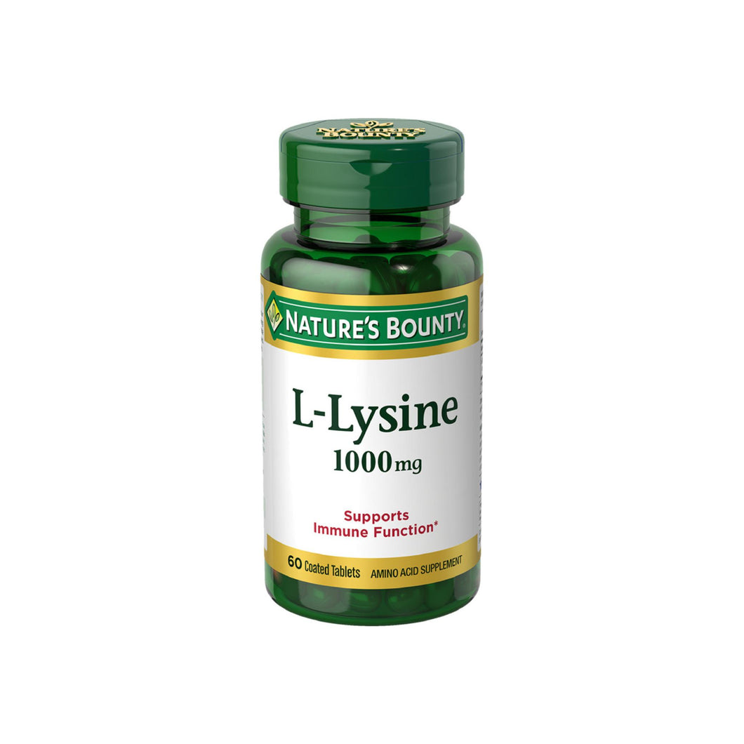 Nature's Bounty L-Lysine 1000 mg Tablets 60 ea