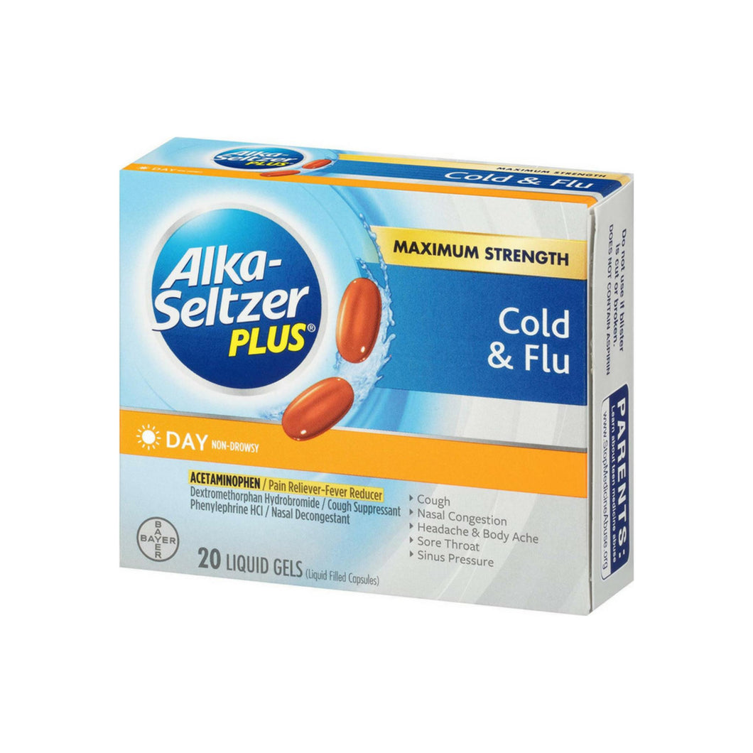 Alka-Seltzer Plus Day Cold & Flu Liquid Gels 20 ea
