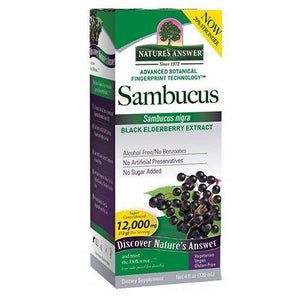 Nature's Answer Sambucus Black Elder Berry Extract 4 oz