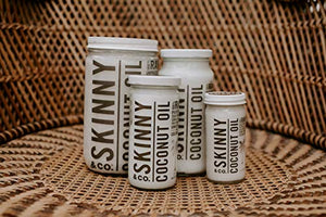 SKINNY & CO. Coconut Oil -100% Raw & Pure Virgin Coconut Oil- 100% Chemical Free - 16 oz.