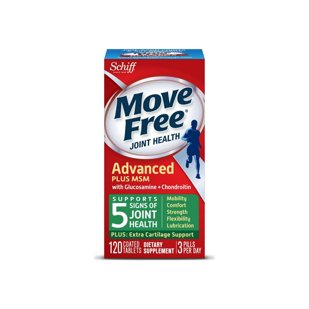 Move Free Advanced Plus MSM, Joint Health Supplement with Glucosamine and Chondroitin 120 ct