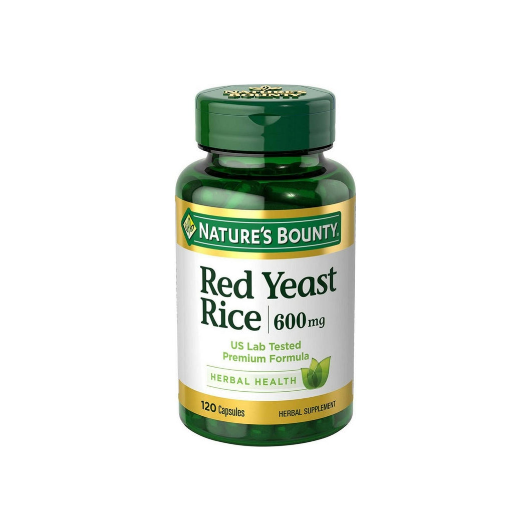 Nature's Bounty Red Yeast Rice 600mg 120 Capsules