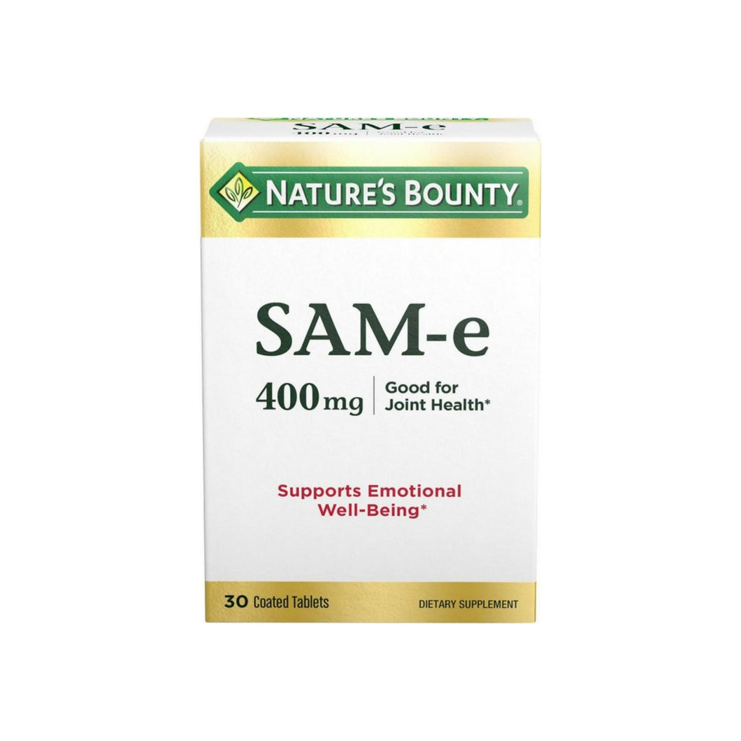 Nature's Bounty SAM-e 400 mg Tablets Double Strength 30 Tablets