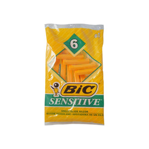 Bic Shavers Sensitive 6 Each