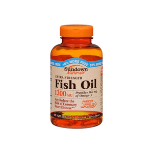 Sundown Naturals Fish Oil 1200 mg With Natural Omega-3 Softgels 90 Soft Gels
