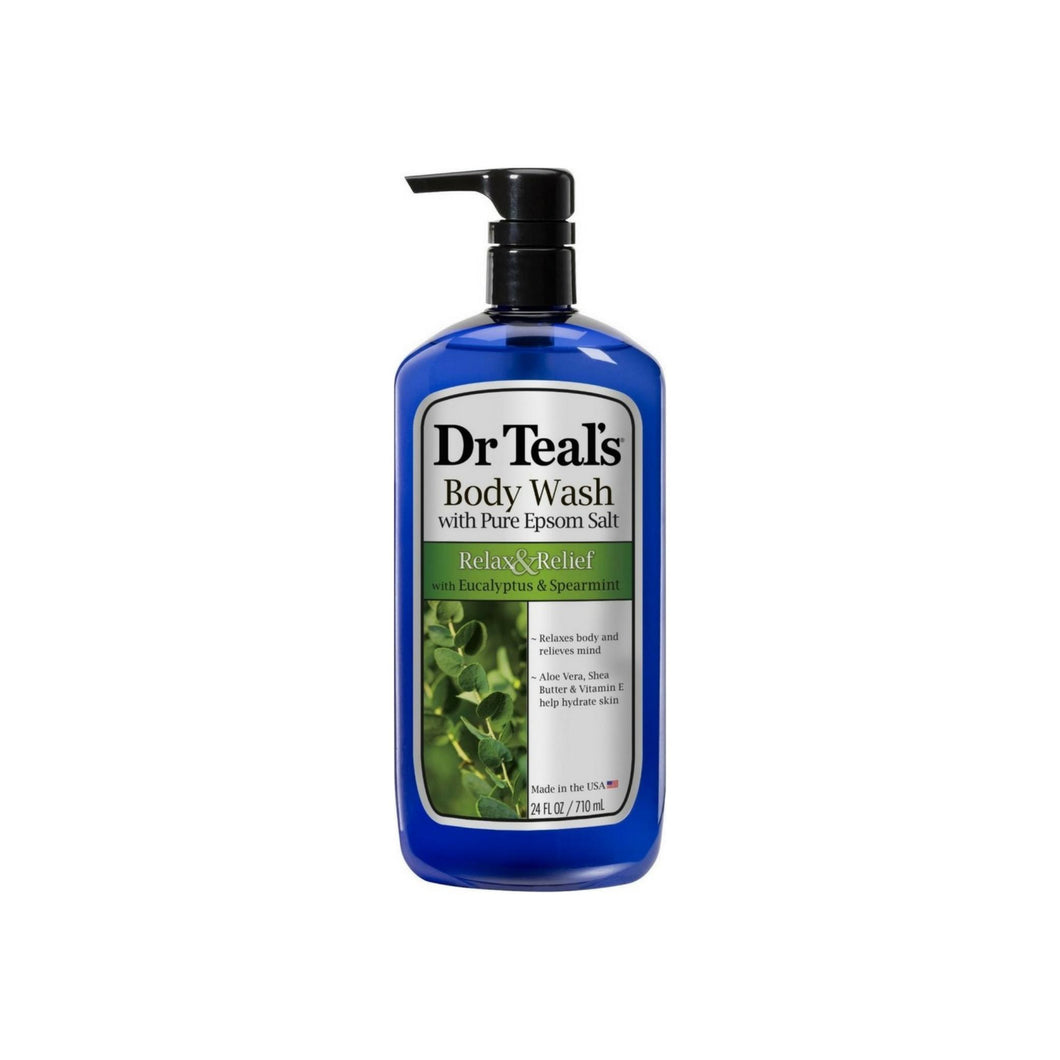 Dr Teal's Body Wash, Relax & Relief with Eucalyptus & Spearmint 24 oz