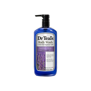 Dr Teal's Pure Epsom Salt Body Wash Soother & Moisturize With Lavender 24 oz