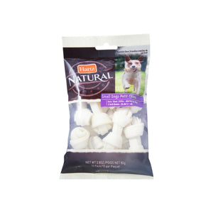 Hartz Natural Mini Bone Rawhide Chew Small Dog Treat 2.80 oz 10 ea