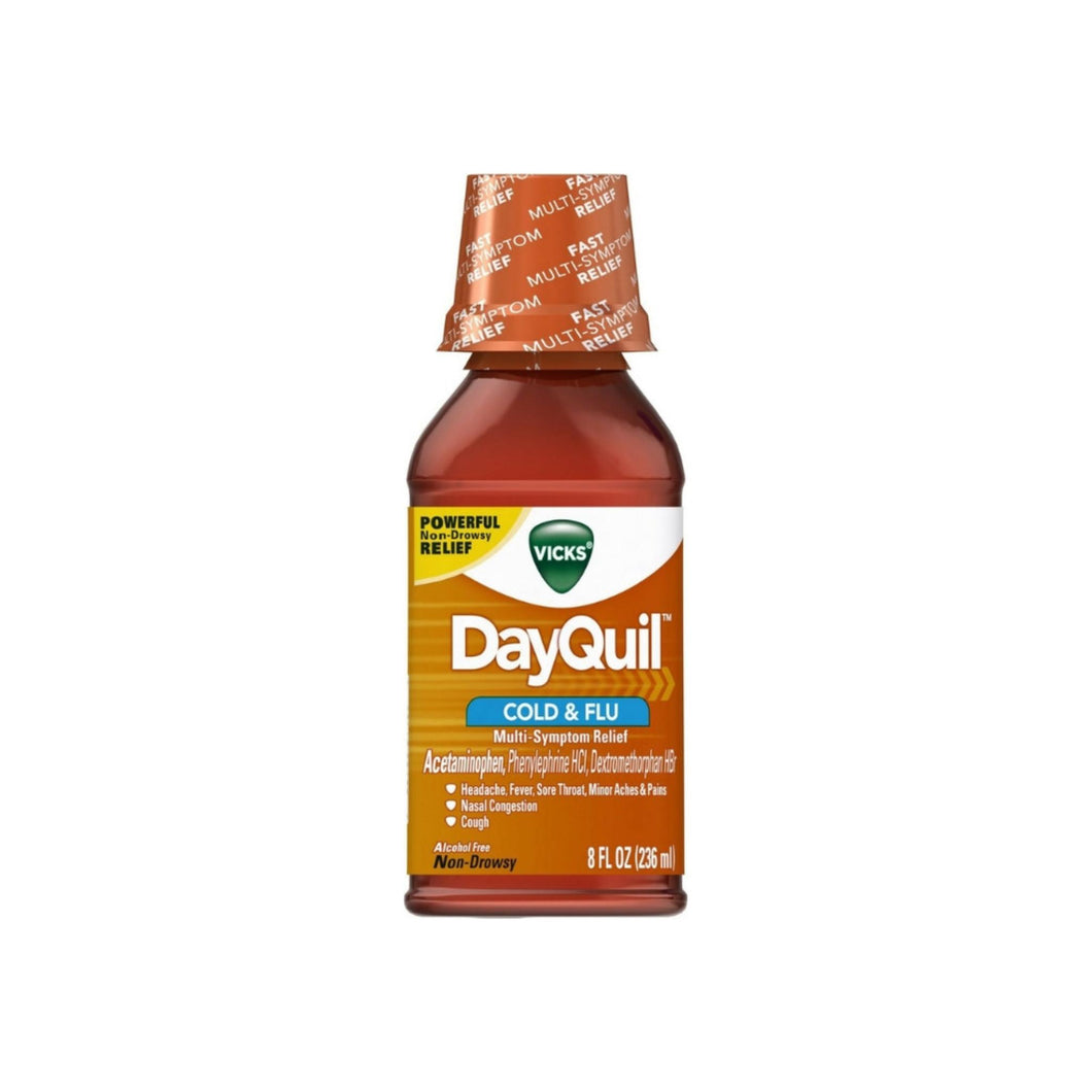 Vicks Dayquil Cold & Flu Relief Liquid, 8 oz