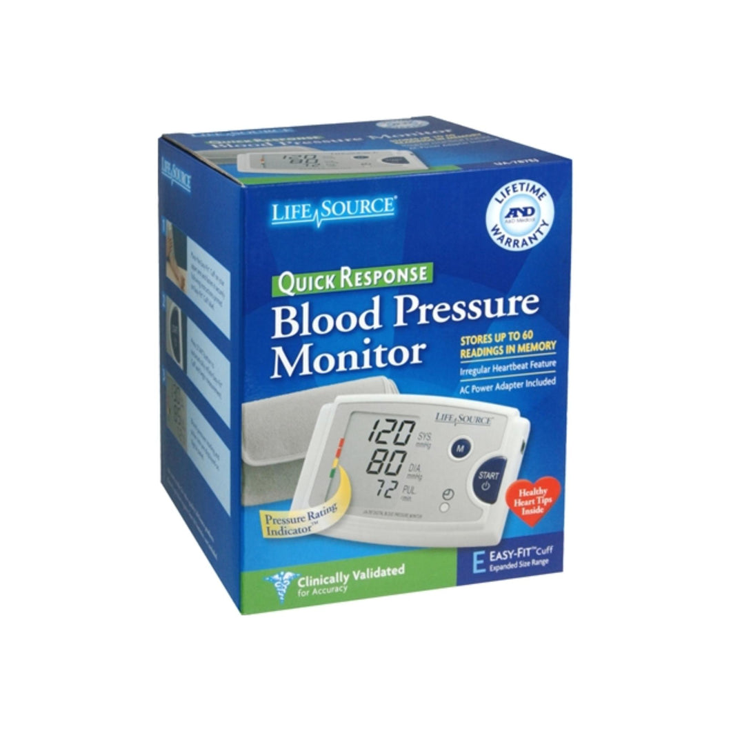 LifeSource Quick Response Blood Pressure Monitor UA-787EJ 1 Each
