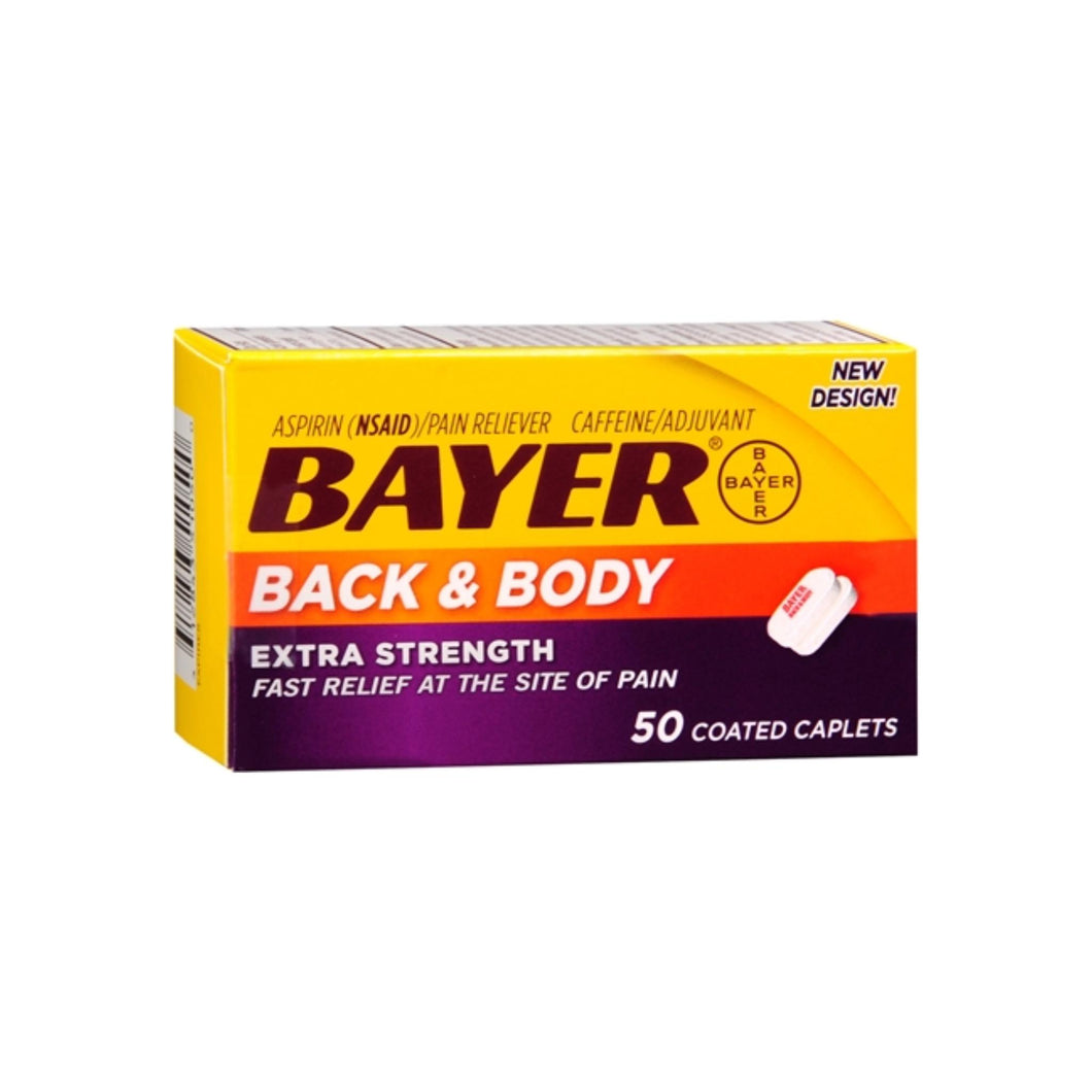 Bayer Back & Body Extra Strength Caplets 50 ea