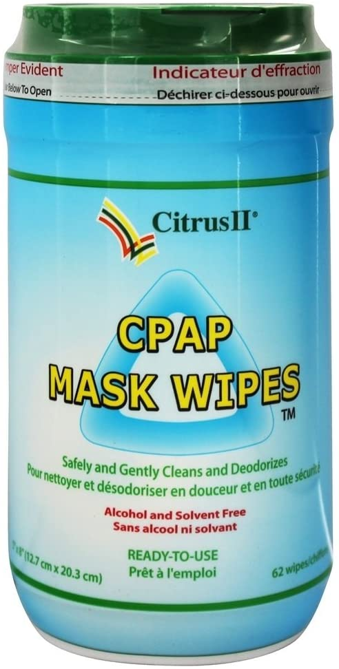 Citrus Magic PAP Mask Cleaner Wipes 12 Count
