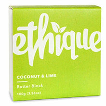 Load image into Gallery viewer, Ethique Eco-Friendly Butter Block, Coconut & Lime  3.53 oz