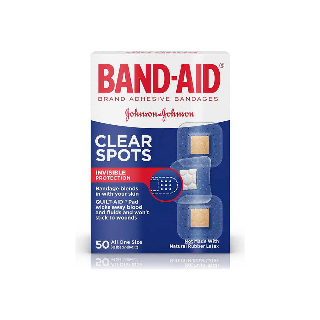 BAND-AID Clear Spots Bandages 50 ea
