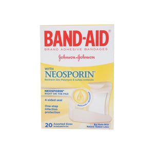 BAND-AID With Neosporin Bandages Assorted Sizes 20 Each