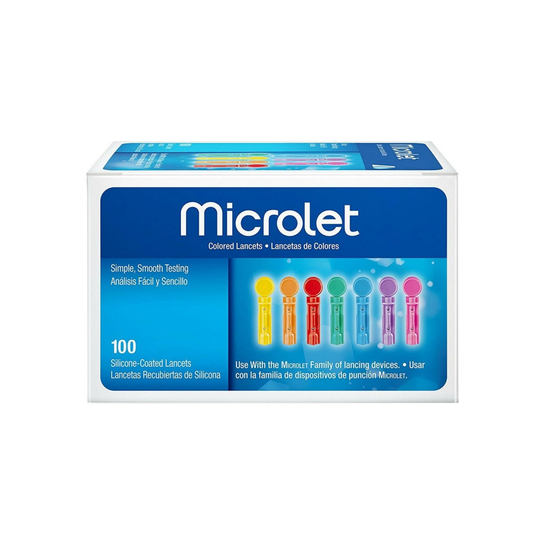 Microlet Colored Lancets 100 Each