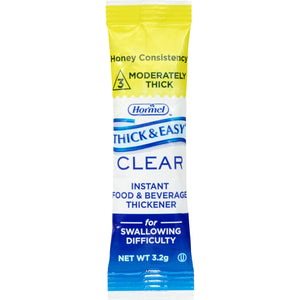 Hormel Health Lab THICK & EASY® Clear Thickener Sticks - Honey - IDDSI LEVEL 3, 0.11 oz ea (1 case)