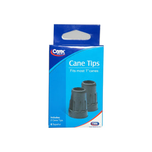 "Carex Cane Tips Fits Most 1"" Canes, 2 Each"
