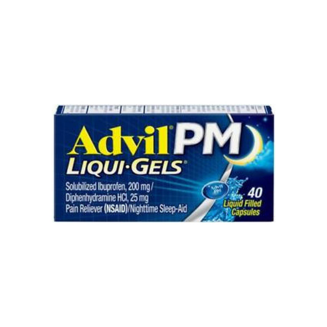 Advil PM Liqui-Gels Ibuprofen Pain Reliever 40 ea