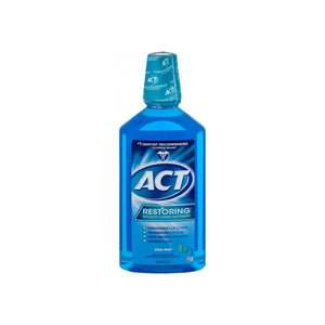 ACT Restoring Anticavity Cool Mint Mouthwash 33.8 oz