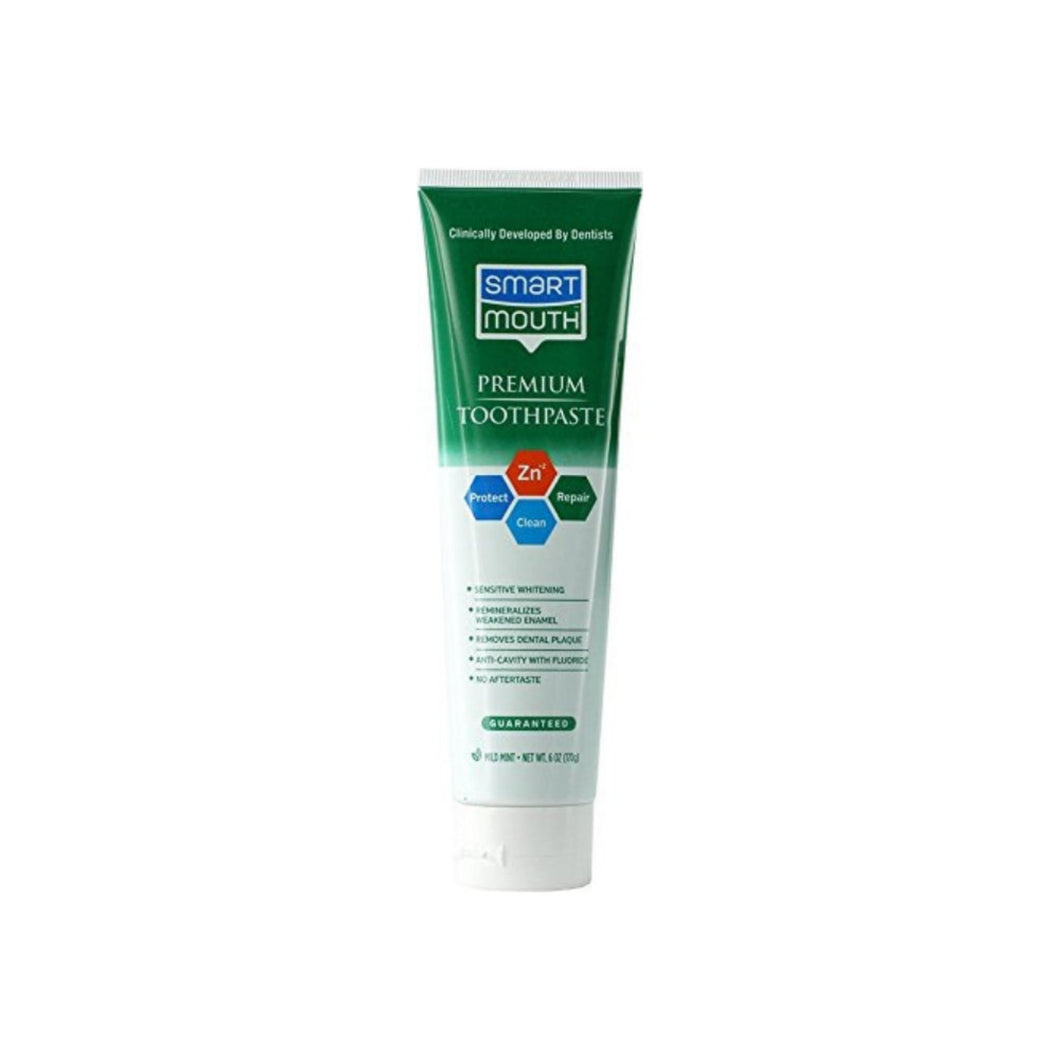 Smart Mouth Whitening Toothpaste with Fluoride Clean Mint 6 oz