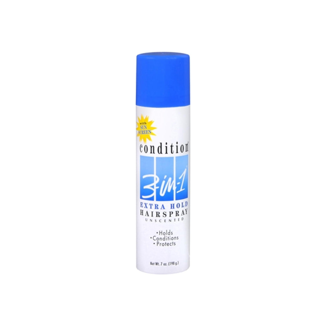 CONDITION 3-In-1 Hairspray Aerosol Extra Hold Unscented 7 oz