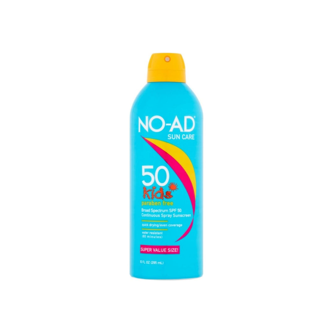NO-AD Kids Continuous Sunscreen Spray SPF 50 10 oz
