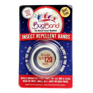 BugBand Insect Repellent Deet Free Wristband, Colors May Vary 1 ea