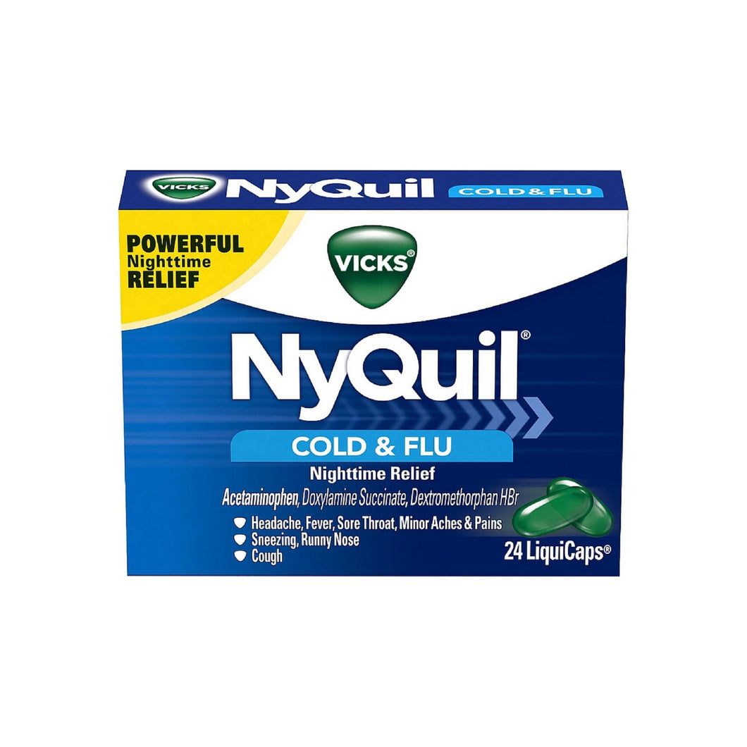 Vicks NyQuil Cold & Flu Nighttime Relief LiquiCaps 24 ea