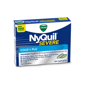 Vicks NyQuil Severe Nighttime Cold & Flu Relief Caplets 24 ea