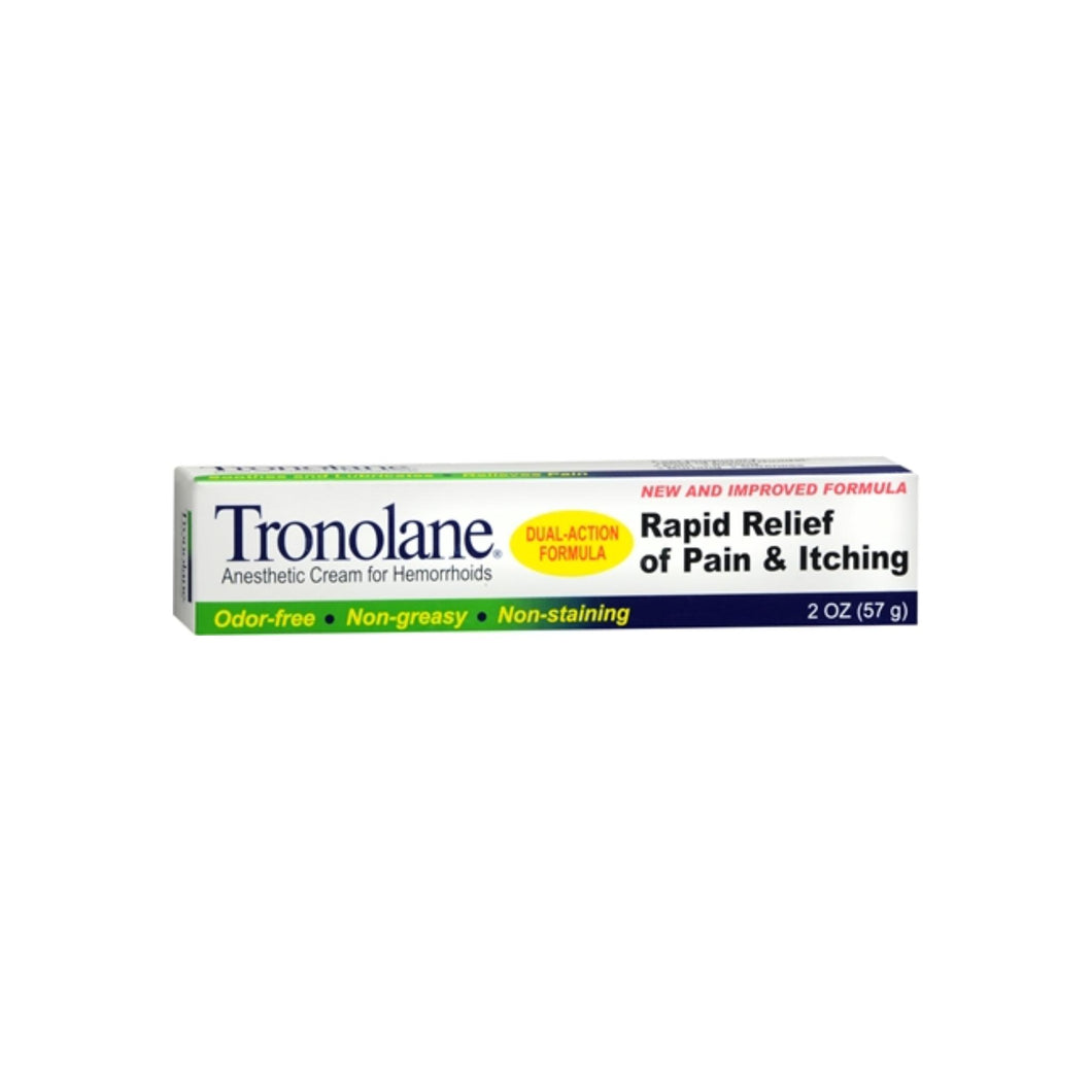 Tronolane Anesthetic Cream for Hemorrhoids 2 oz