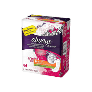 Always Discreet Very Light Absorbency Liners, Long Length 44 ea