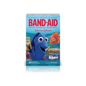 BAND-AID Children's Adhesive Bandages, Disney's Finding Dory, Assorted Sizes 20 ea