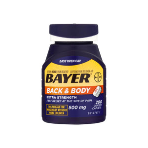 Bayer Back & Body Extra Strength Aspirin/Pain Reliever Coated Caplets 200 ea