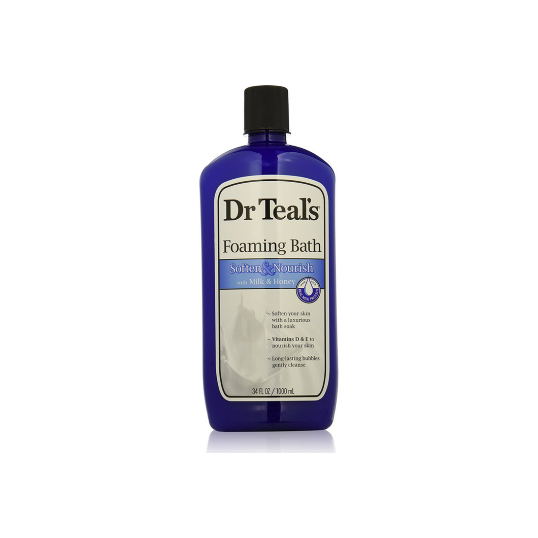 Dr Teal's Foaming Bath, Soften & Nourish with Milk & Honey 34 oz