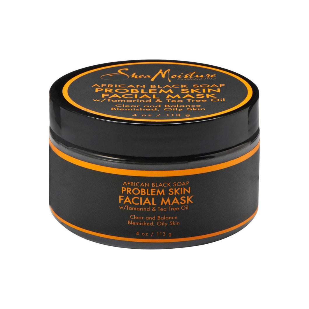 Shea Moisture African Black Soap Problem Skin Facial Mask 4 oz