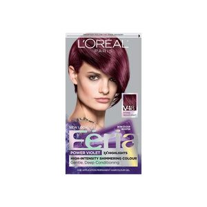 L'Oreal Paris Feria Power Violet High-Intensity Shimmering Colour, Intense Medium Voilet [V48] 1 ea
