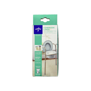Medline Commode Liner with Absorbent Pad 12 ea