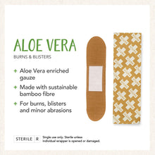 Load image into Gallery viewer, PATCH Organic Bamboo Adhesive Strip Bandages with Aloe Vera, Tan, 25 ct