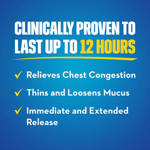 Mucinex 12 Hr Chest Congestion Expectorant, Tablets 68 ea