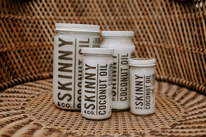 SKINNY & CO. Coconut Oil -100% Raw & Pure Virgin Coconut Oil- 100% Chemical Free - 8.5 oz.