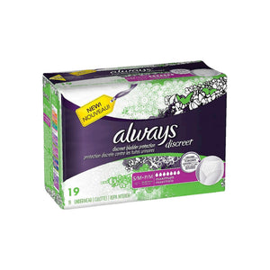 Always Discreet Maximum Absorbency Incontinence Underwear, Small 19 ea
