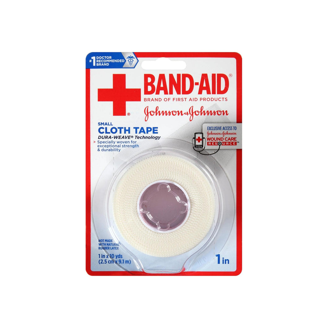 BAND-AID Small Cloth Tape, 1 In x 10 Yard 1 ea