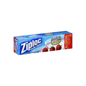 Ziploc Double Zipper Gallon Storage Bags 20 ea