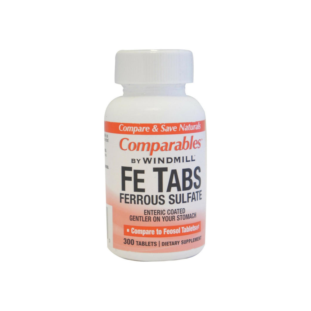 Comparables By Windmill Fe Tabs Ferrous Sulfate Tablets 300 Tablets