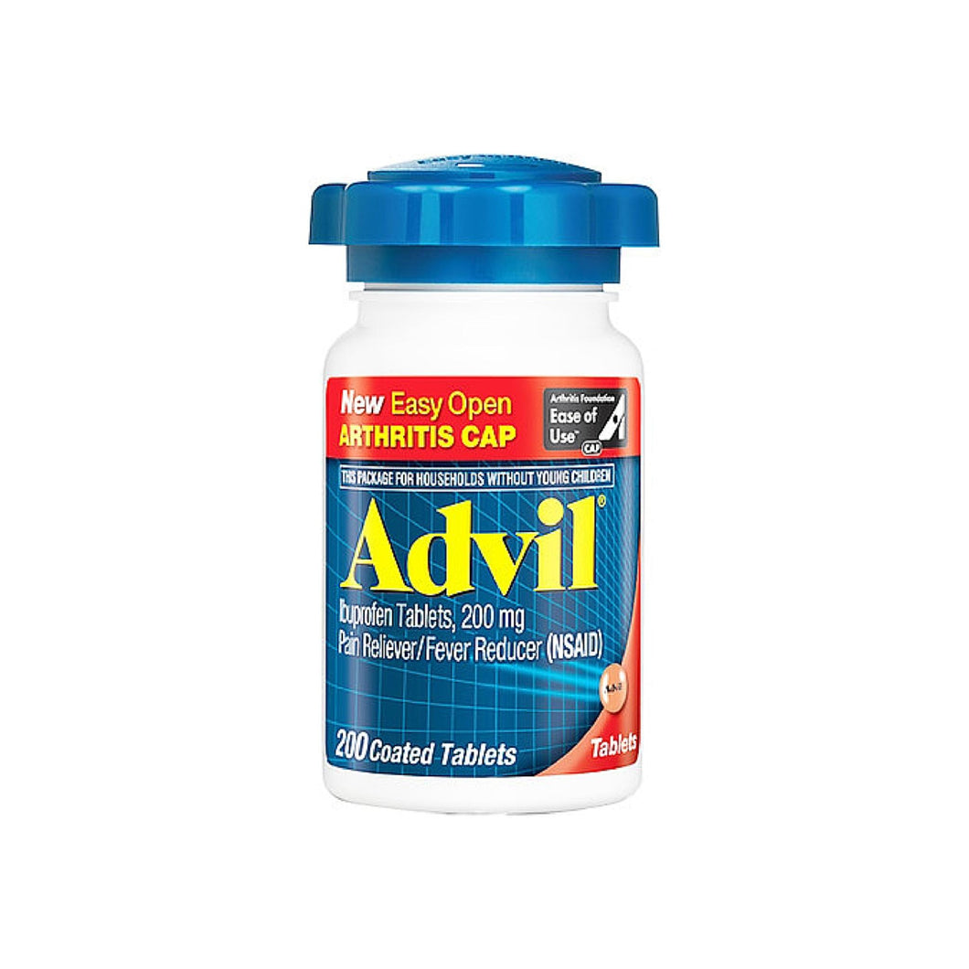 Advil Ibuprofen Pain Reliever/Fever Reducer 200 mg Coated Tablets 200 ea