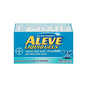 Aleve Liquid Gels Pain Reliever/Fever Reducer 220 mg 40 ea